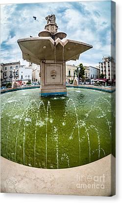Historic Fountain Canvas Print by Sabino Parente
