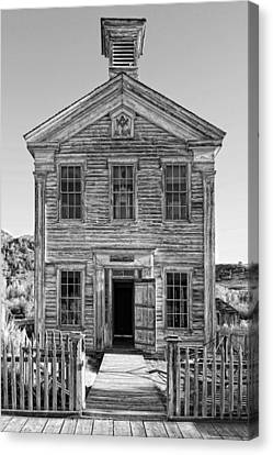 Historic Masonic Lodge 3777 In Bannack Montana Ghost Town Canvas Print by Daniel Hagerman