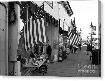 Historic Niles District In California Near Fremont . Main Street . Niles Boulevard . 7d10692 . Bw Canvas Print by Wingsdomain Art and Photography