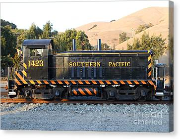 Historic Niles Trains In California . Old Southern Pacific Locomotive . 7d10867 Canvas Print by Wingsdomain Art and Photography