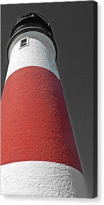 Historical Sankaty Head Lighthouse Canvas Print by Becky Lodes
