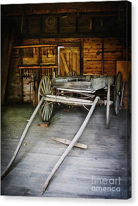 Hitch Your Wagon Canvas Print by Colleen Kammerer