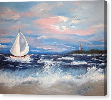 Hms Bonnie Canvas Print by Donna Blackhall