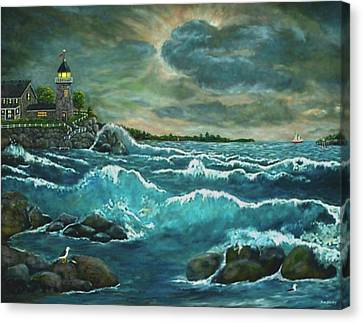 Hobson's Lighthouse Canvas Print by Ave Hurley
