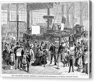 Hoe Web Printing Press Canvas Print by Granger