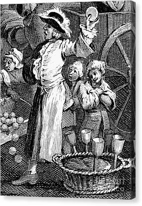 Hogarth: Cutpurse, 1751 Canvas Print by Granger