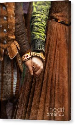 Holding Hands Canvas Print by Jill Battaglia