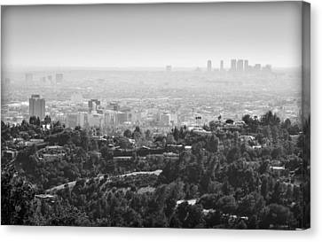 Hollywood From Above Canvas Print by Ricky Barnard