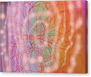 Holographic Galaxy Canvas Print by Naomi Susan Schwartz Jacobs