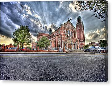 Holy Redeemer Canvas Print by Nicholas  Grunas
