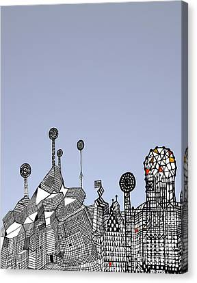 Homage To Gaudi Canvas Print by Andy  Mercer