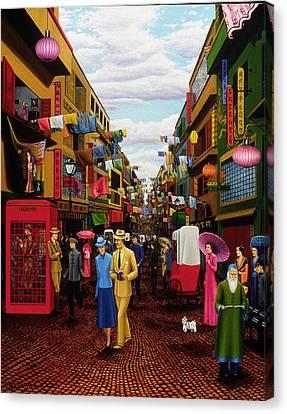 Hong Kong Canvas Print by Tracy Dennison
