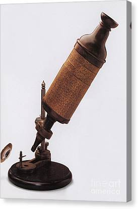 Hookes Microscope Canvas Print by Photo Researchers