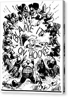Hoover Cartoon, 1931 Canvas Print by Granger