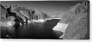 Hoover Dam Reservoir - Architecture On A Grand Scale Canvas Print by Christine Till