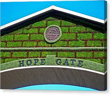 Hope Gate - Quebec City Canvas Print by Juergen Weiss