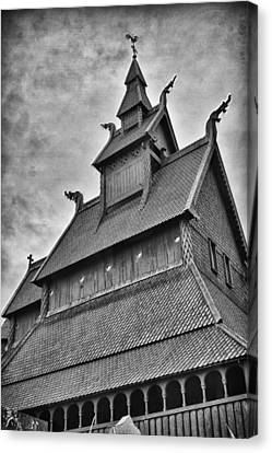Hopperstad Stave Church Canvas Print by A A