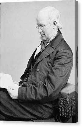 Horace Greeley 1811-1872, Ca. 1860 Canvas Print by Everett
