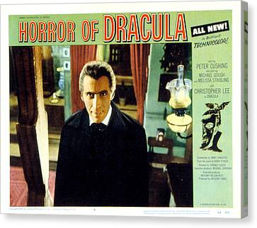 Horror Of Dracula, Christopher Lee, 1958 Canvas Print by Everett