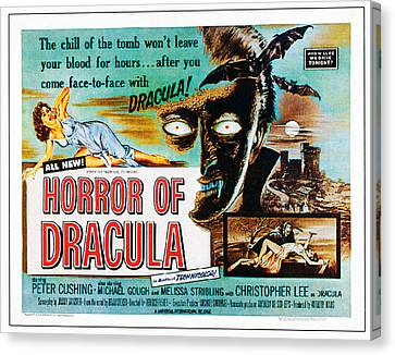 Horror Of Dracula, Poster Art, 1958 Canvas Print by Everett
