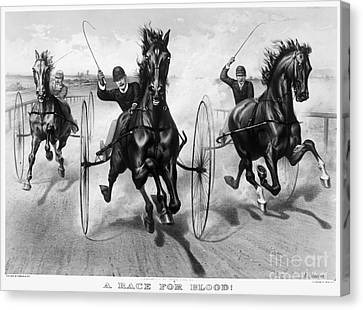 Horse Racing, 1890 Canvas Print by Granger