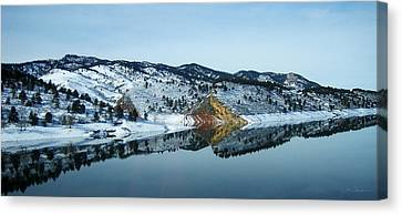 Horsetooth Reflections Canvas Print by Julie Magers Soulen
