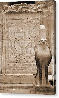Horus Temple Canvas Print by Donna Corless