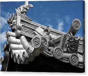 Horyu-ji Temple Roof Gargoyles - Nara Japan Canvas Print by Daniel Hagerman