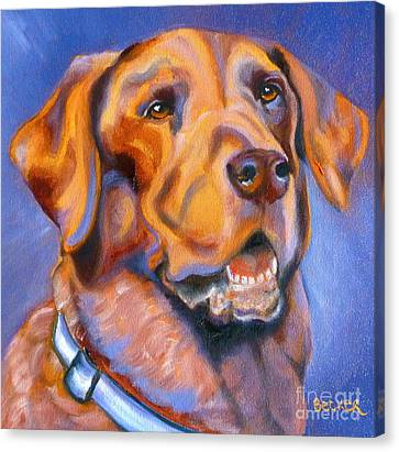 Hot Chocolate Lab Canvas Print by Susan A Becker