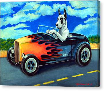 Hot Rod Harl Canvas Print by Lyn Cook