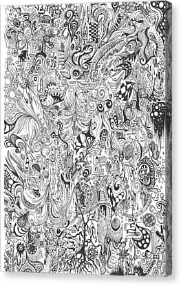 Hours Of Doodling Canvas Print by Carol McLagan