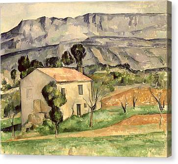 House In Provence Canvas Print by Paul Cezanne