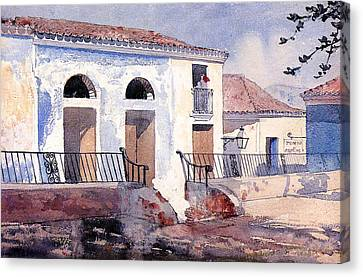 House In Santiago Canvas Print by Winslow Homer