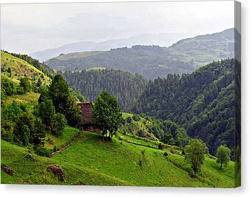 House In The Apuseni Mountains Canvas Print by Emanuel Tanjala