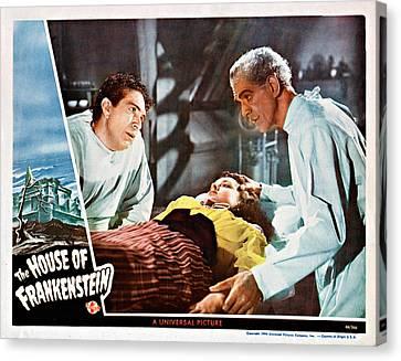 House Of Frankenstein, From Left J Canvas Print by Everett