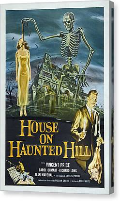 House On Haunted Hill, Alternate Poster Canvas Print by Everett