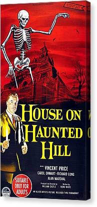 House On Haunted Hill, Bottom Left Canvas Print by Everett