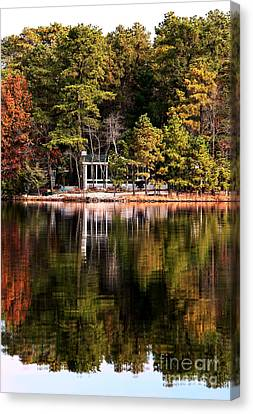 House On The Lake Canvas Print by John Rizzuto