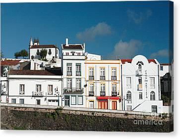 Houses In Ponta Delgada Canvas Print by Gaspar Avila