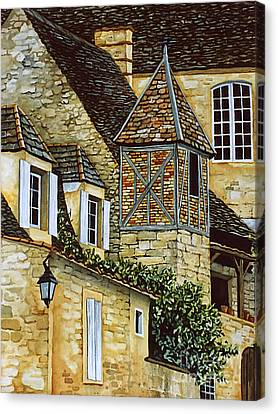 Houses In Sarlat Canvas Print by Scott Nelson
