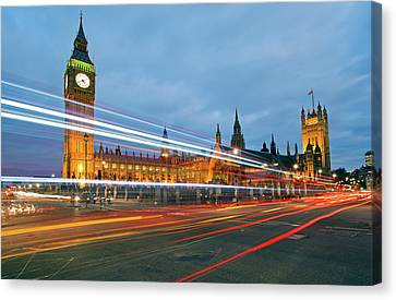 Houses Of Parliament Canvas Print by Ray Wise