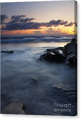 Hug Point Sunset Canvas Print by Mike  Dawson