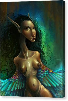 Humming Woman Canvas Print by Caroline Jamhour