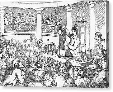 Humphrey Davy Lecturing, 1809 Canvas Print by Science Source