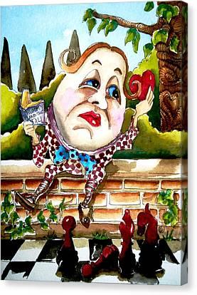 Humpty Dumpty Canvas Print by Lucia Stewart