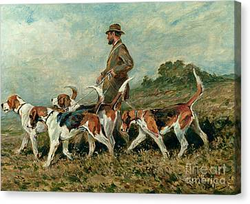 Hunting Exercise Canvas Print by John Emms