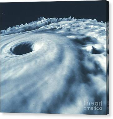 Hurricane Diana From Above Canvas Print by Padre Art