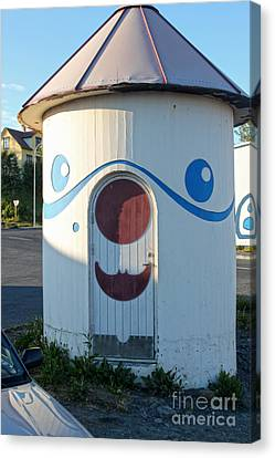 Husavik Iceland Funny Building Canvas Print by Gregory Dyer