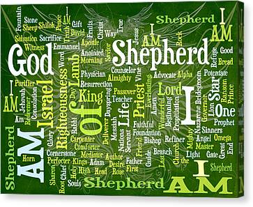 I Am Shepherd Canvas Print by Angelina Vick