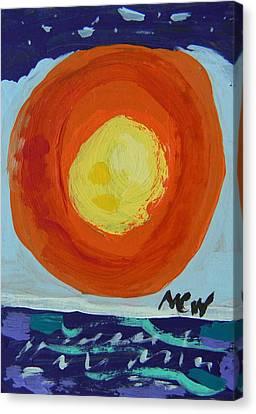 I Like A Full Sun Canvas Print by Mary Carol Williams